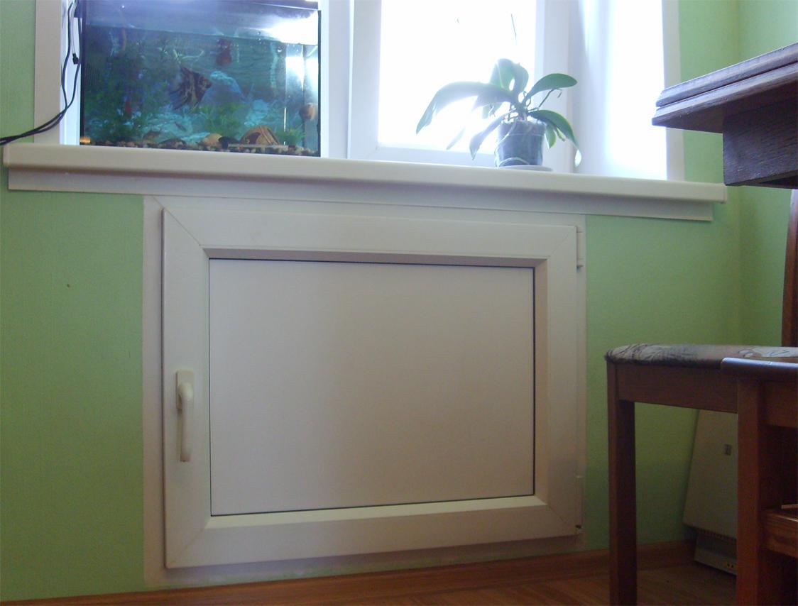 Холодильник под окном отделка своими руками фото
