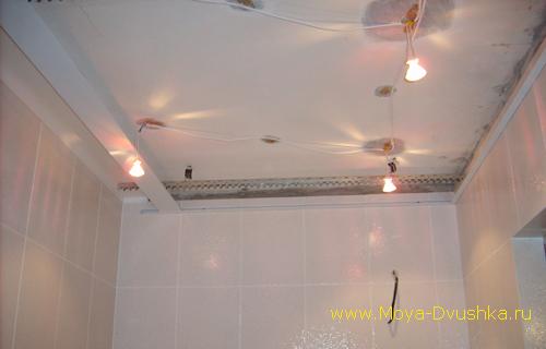Провода для точечных светильников на потолке