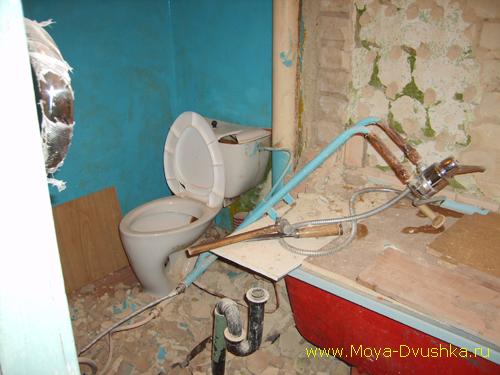 Демонтированная перегородка в саузле