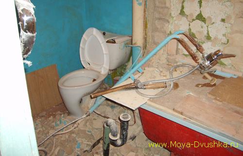Снос стены между ванной и туалетом