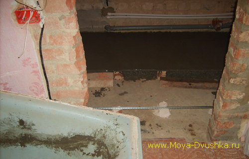 Устройство цементной стяжки в санузле