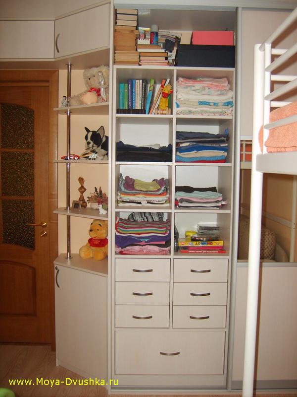 Внутренне пространство шкафа-купе