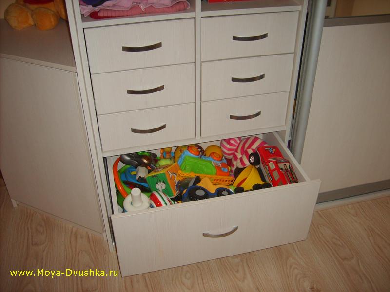 Выкатной ящик для игрушек
