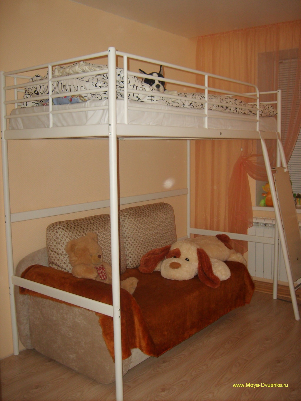 детский уголок с кроватью схема сделай сам