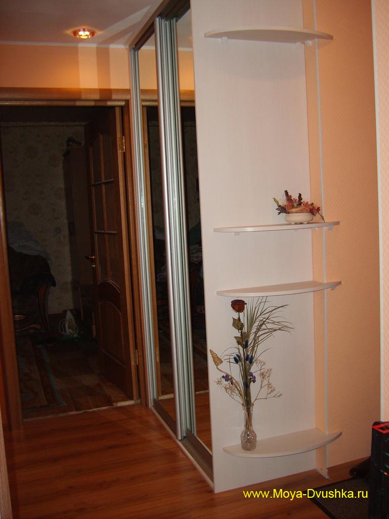 Шкаф-купе в коридоре после установки